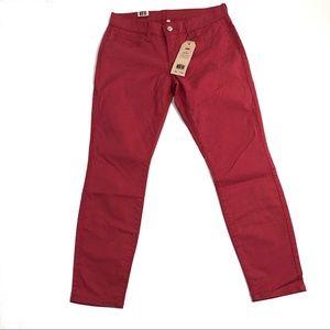 Levi's 711 Salmon Pink Skinny Jeans Size 28